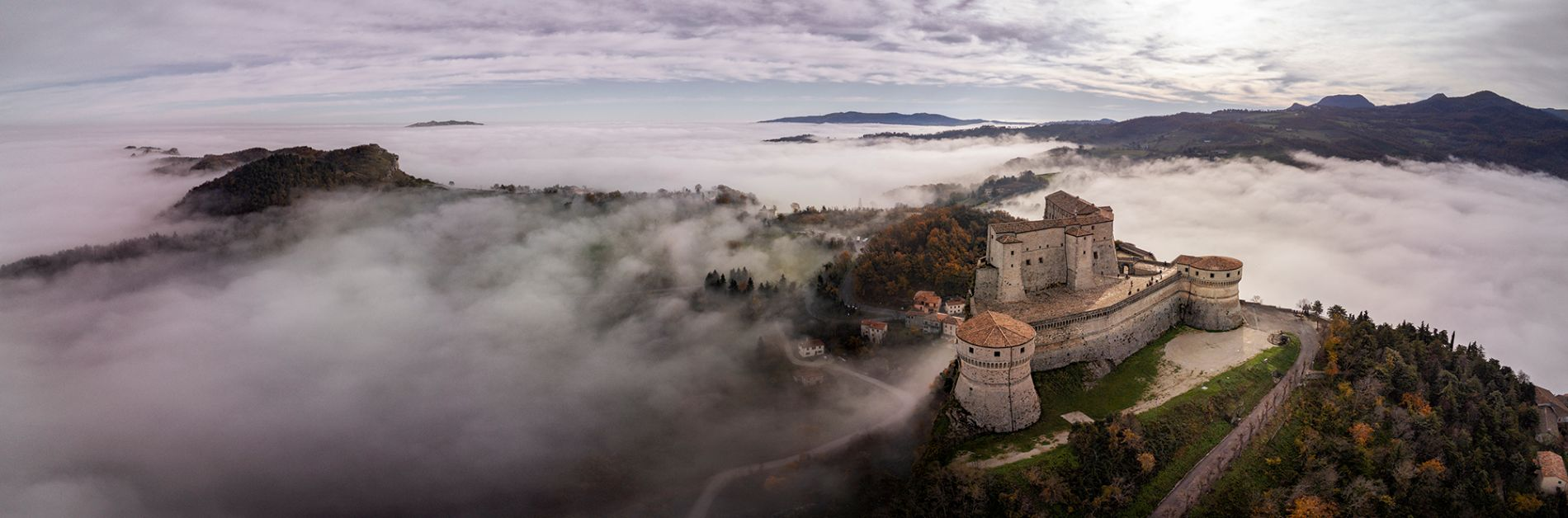 San Leo Castle in the clouds