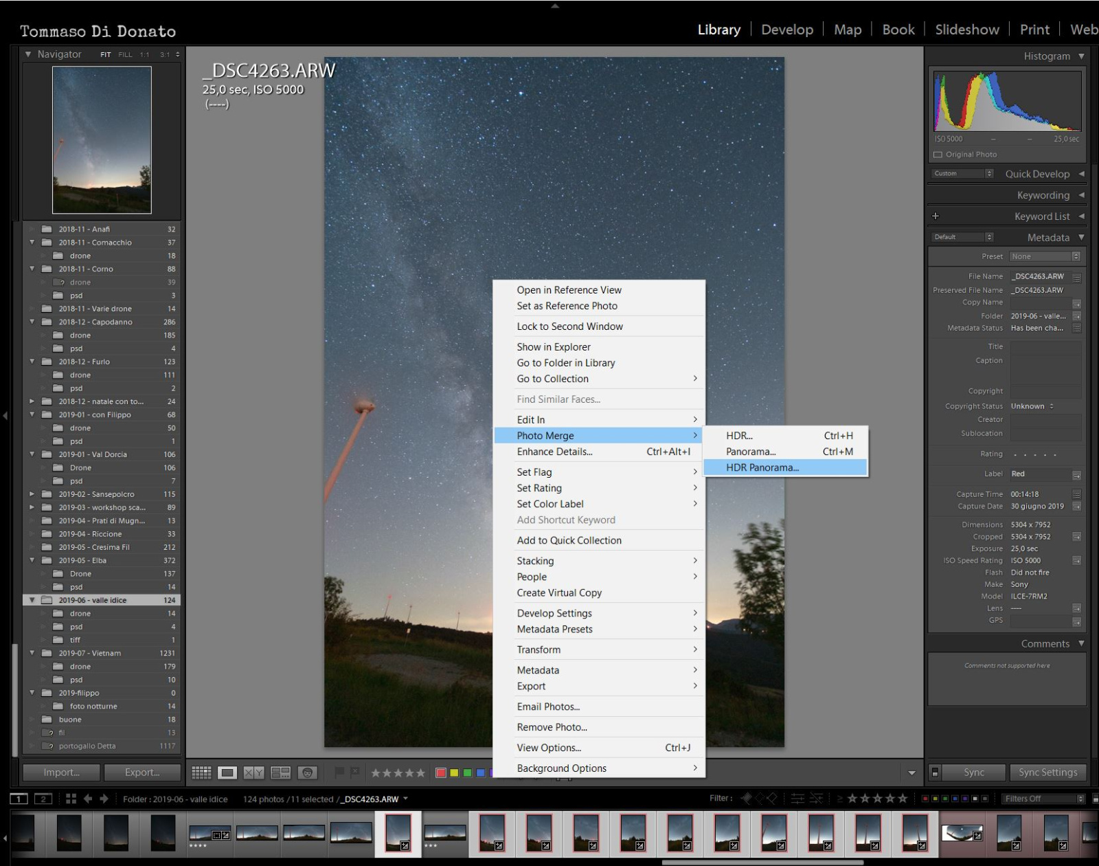 Panorama in Lightroom